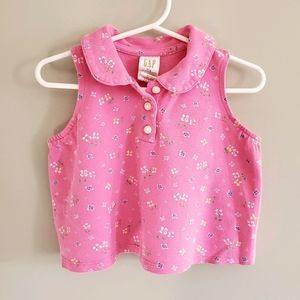 Baby Gap Pink Floral Tank Size 12-18 Months